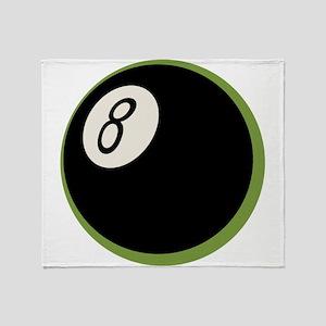 Retro 8-Ball Throw Blanket
