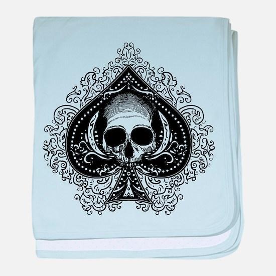 Skull Ace Of Spades baby blanket