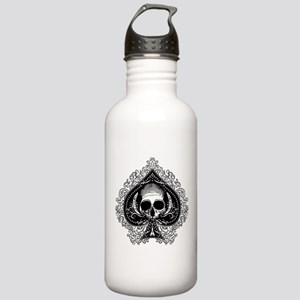 Skull Ace Of Spades Stainless Water Bottle 1.0L