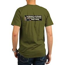 Munch The Scream Organic Men's T-Shirt (on back)