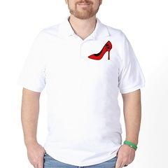 Evil High Heel Shoe Golf Shirt