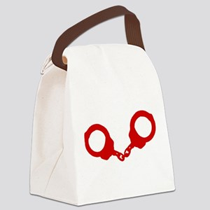 Red Handcuffs Canvas Lunch Bag