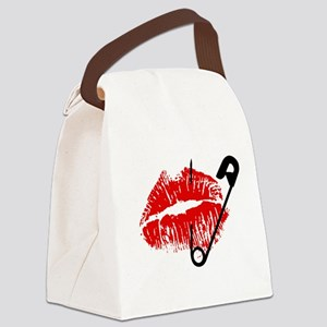 Safety Pinned Kiss Canvas Lunch Bag