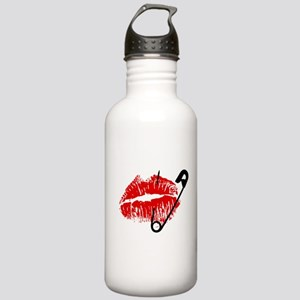 Safety Pinned Kiss Stainless Water Bottle 1.0L