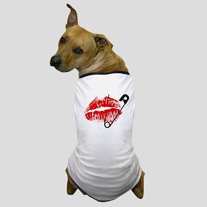 Safety Pinned Kiss Dog T-Shirt