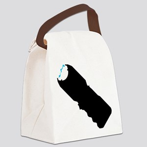 Stun Gun Shock Canvas Lunch Bag