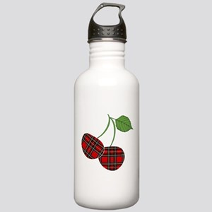 Punk Plaid Cherry Stainless Water Bottle 1.0L
