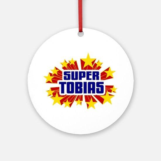 Tobias the Super Hero Ornament (Round)