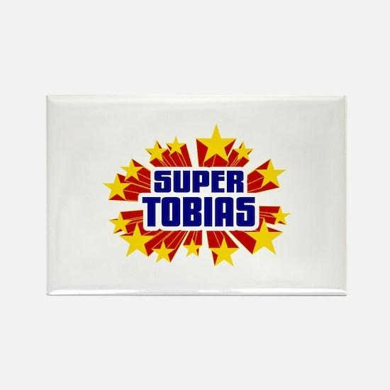 Tobias the Super Hero Rectangle Magnet