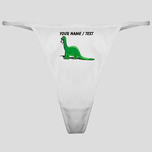 Custom Cartoon Dinosaur Classic Thong