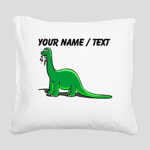 Custom Cartoon Dinosaur Square Canvas Pillow