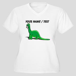 Custom Cartoon Dinosaur Plus Size T-Shirt