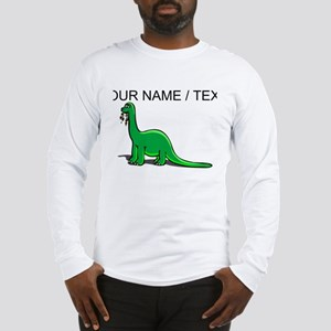 Custom Cartoon Dinosaur Long Sleeve T-Shirt