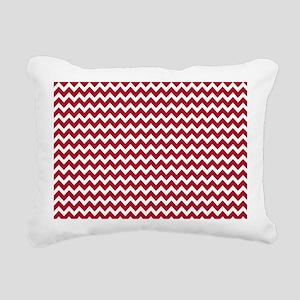 DK Berry Red Chevrons Zigzag Pattern Rectangular C