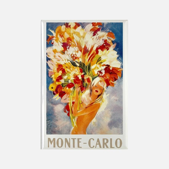 Vintage Monte Carlo Travel Rectangle Magnet (100 p