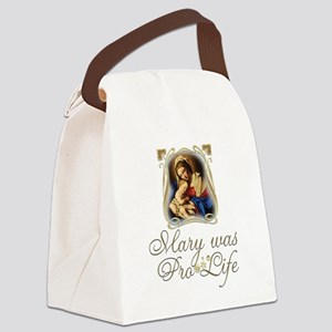 Mary was Pro-Life Canvas Lunch Bag