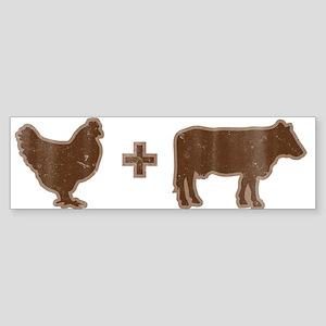 Brown_merch Bumper Sticker
