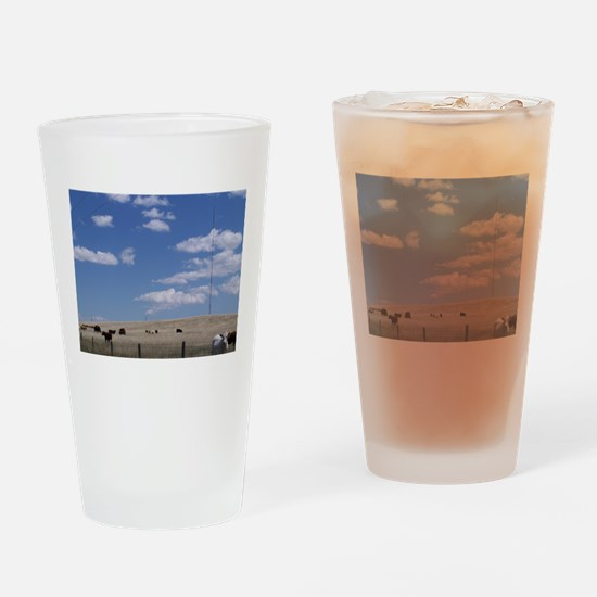 Fields of Grazing Drinking Glass
