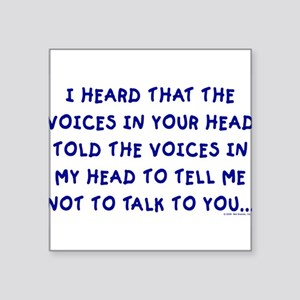 "voices10 Square Sticker 3"" x 3"""