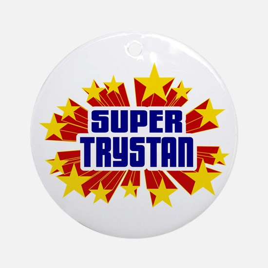Trystan the Super Hero Ornament (Round)