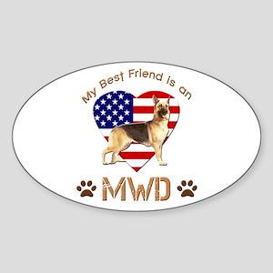 My Best Friend is an MWD Sticker