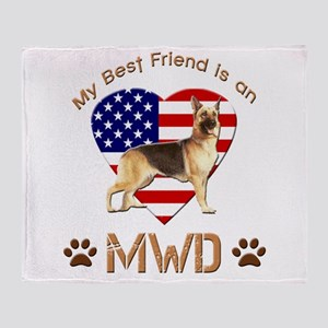 My Best Friend is an MWD Throw Blanket
