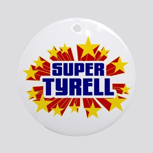 Tyrell the Super Hero Ornament (Round)