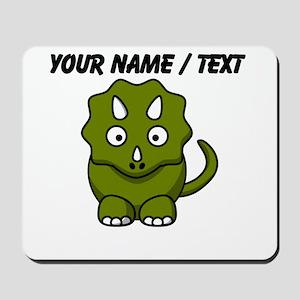 Custom Cartoon Triceratops Mousepad