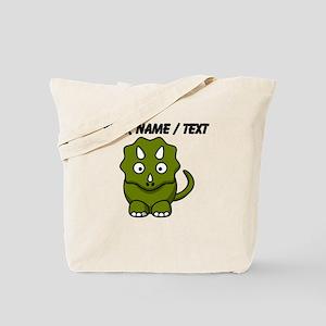 Custom Cartoon Triceratops Tote Bag