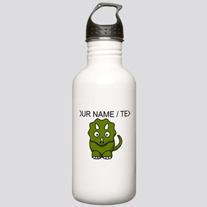 Custom Cartoon Triceratops Water Bottle