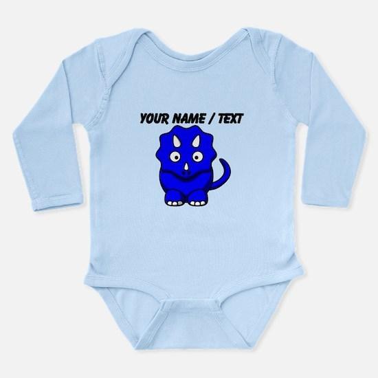Custom Blue Cartoon Triceratops Body Suit