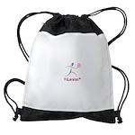 LogoColorTextBelow Drawstring Bag