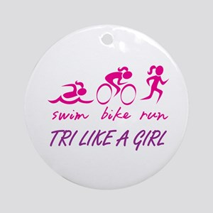 TRI LIKE A GIRL Ornament (Round)