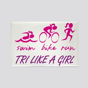 TRI LIKE A GIRL Rectangle Magnet