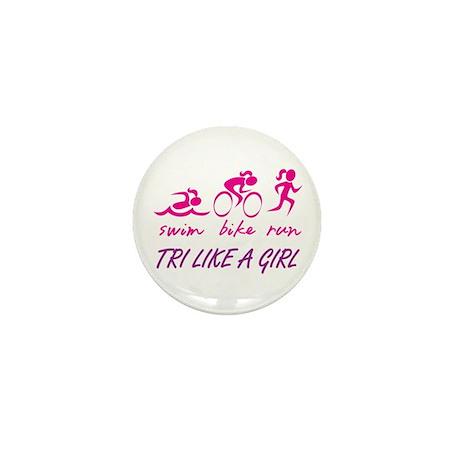 TRI LIKE A GIRL Mini Button