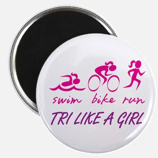 TRI LIKE A GIRL Magnet