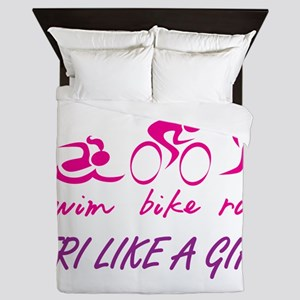 TRI LIKE A GIRL Queen Duvet