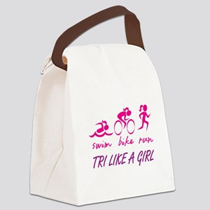 TRI LIKE A GIRL Canvas Lunch Bag