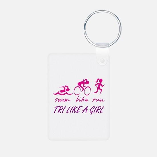 TRI LIKE A GIRL Keychains