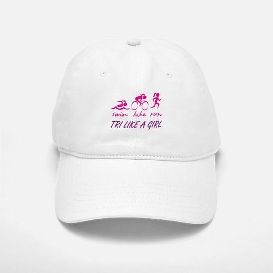 TRI LIKE A GIRL Baseball Baseball Baseball Cap
