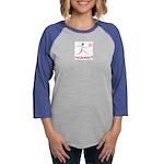 LogoColorTextBelow Womens Baseball Tee