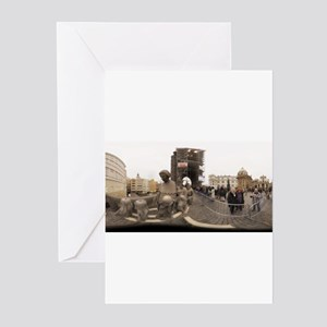 the old statues - rect Greeting Cards (Package of