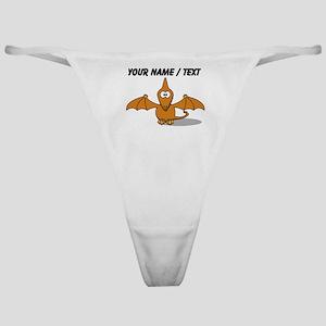 Custom Orange Pterodactyl Cartoon Classic Thong