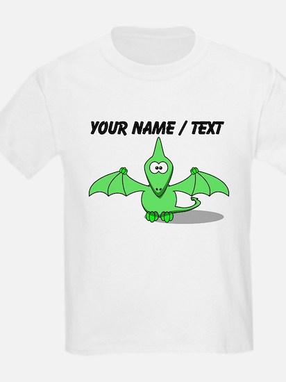 Custom Green Pterodactyl Cartoon T-Shirt