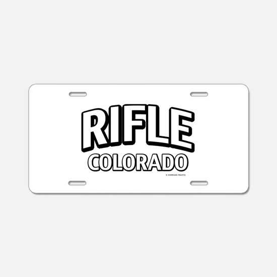 Rifle Colorado Aluminum License Plate