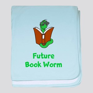 Future Book Worm baby blanket