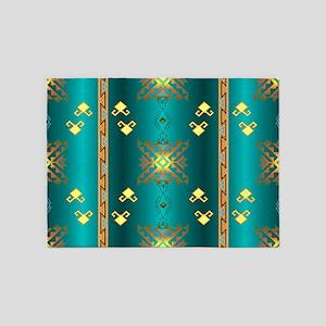 Sun In Winter Blanket Design 5'x7'Area Rug