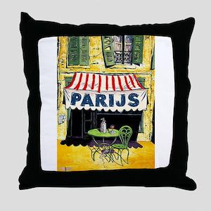 Vintage Paris France Travel Throw Pillow