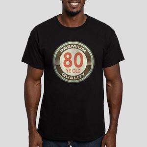 80th Birthday Vintage Men's Fitted T-Shirt (dark)