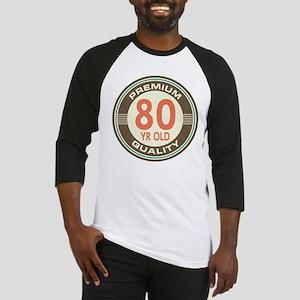 80th Birthday Vintage Baseball Jersey